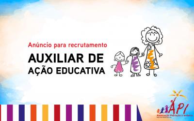 Anúncio para recrutamento – Auxiliar de ação educativa