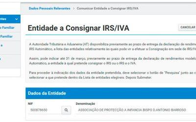 Consignação do IRS