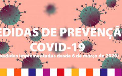 MEDIDAS DE PREVENÇÃO COVID-19 (reforço)